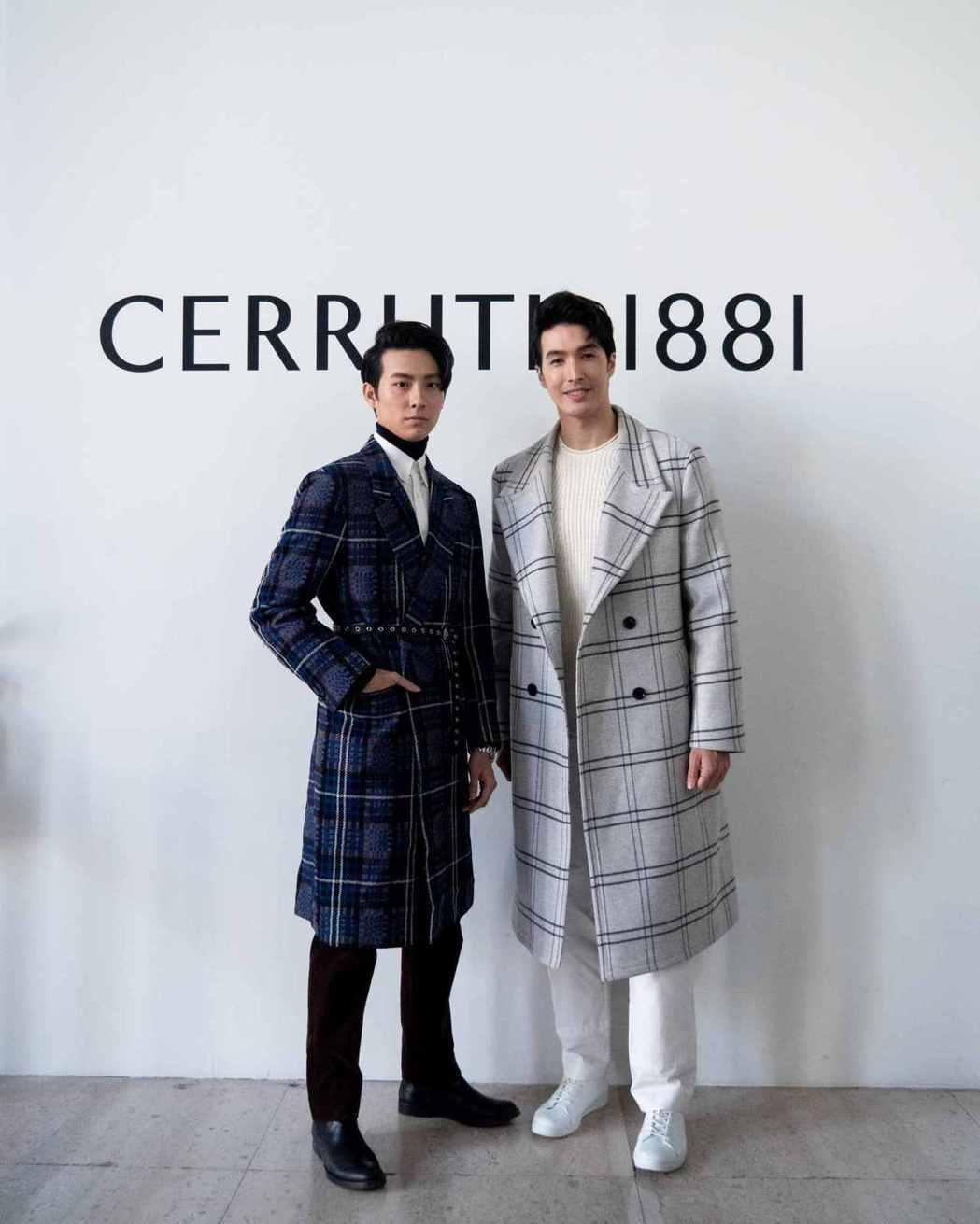 錦榮與師弟彭千祐(左)一起前往巴黎參觀名牌男裝大秀。圖/吾貳不作娛樂提供