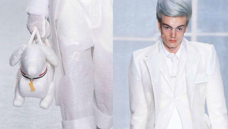 巴黎男装周/泡泡纸西装超纾压再跨性别界线Thom Browne让男人穿高跟鞋