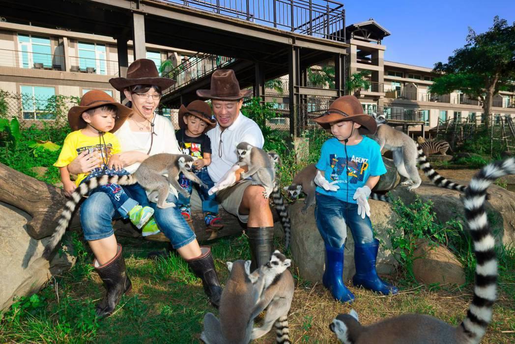 六福村結合遊樂設施與飯店、動物園,適合親子過年走春與住宿,現在有壽星半價優惠。圖...