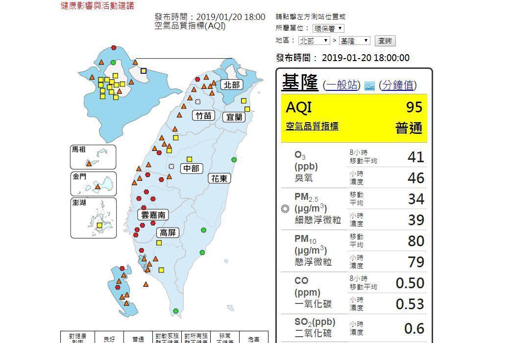 環保署表示,今天入夜後,強烈冷氣團將挾帶中國大陸霾害影響台灣空氣品質,預估北部多...