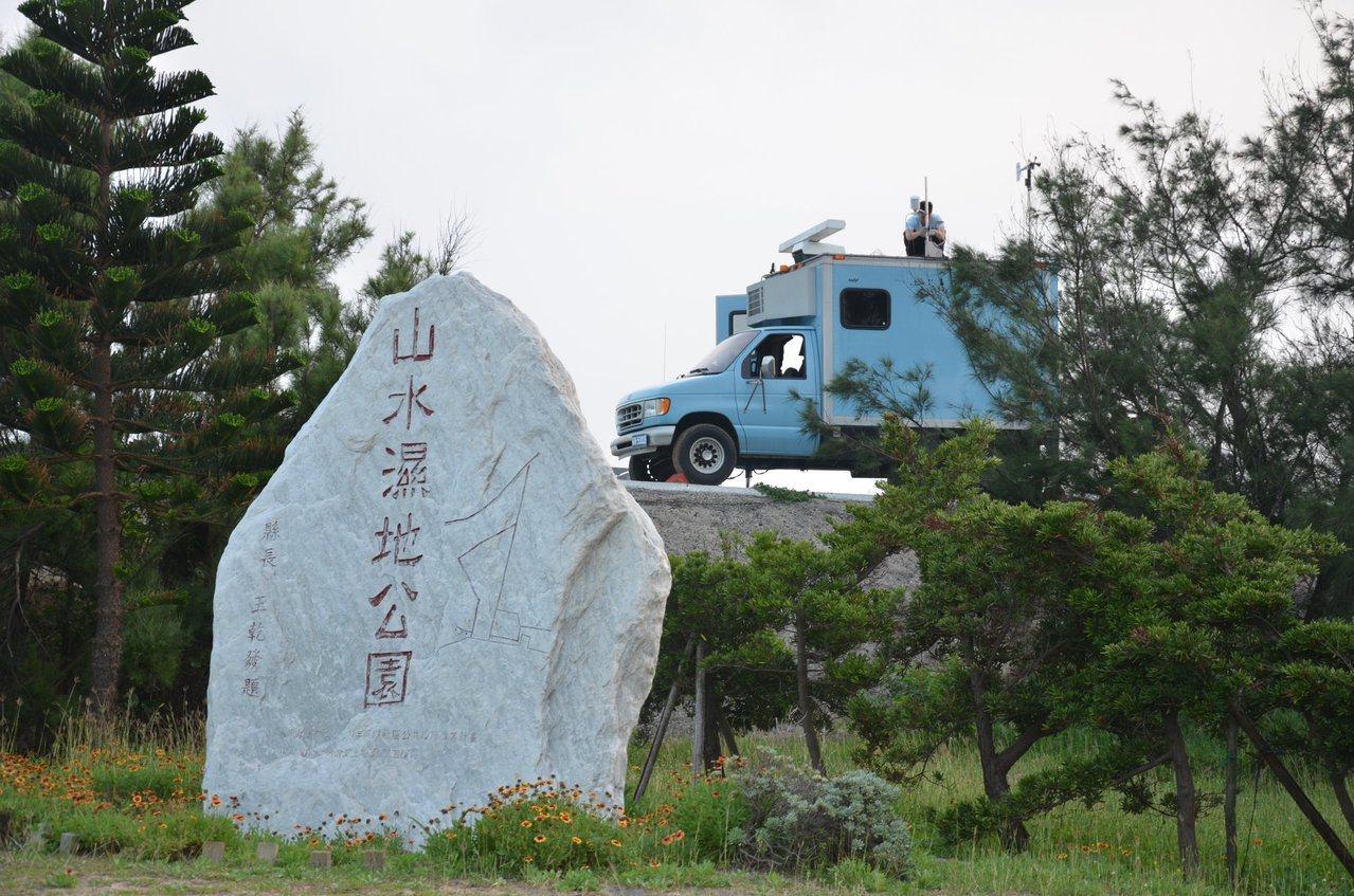 舊型的海軍氣象觀測車曾遠征澎湖支援漢光操演。圖/何姓航迷提供