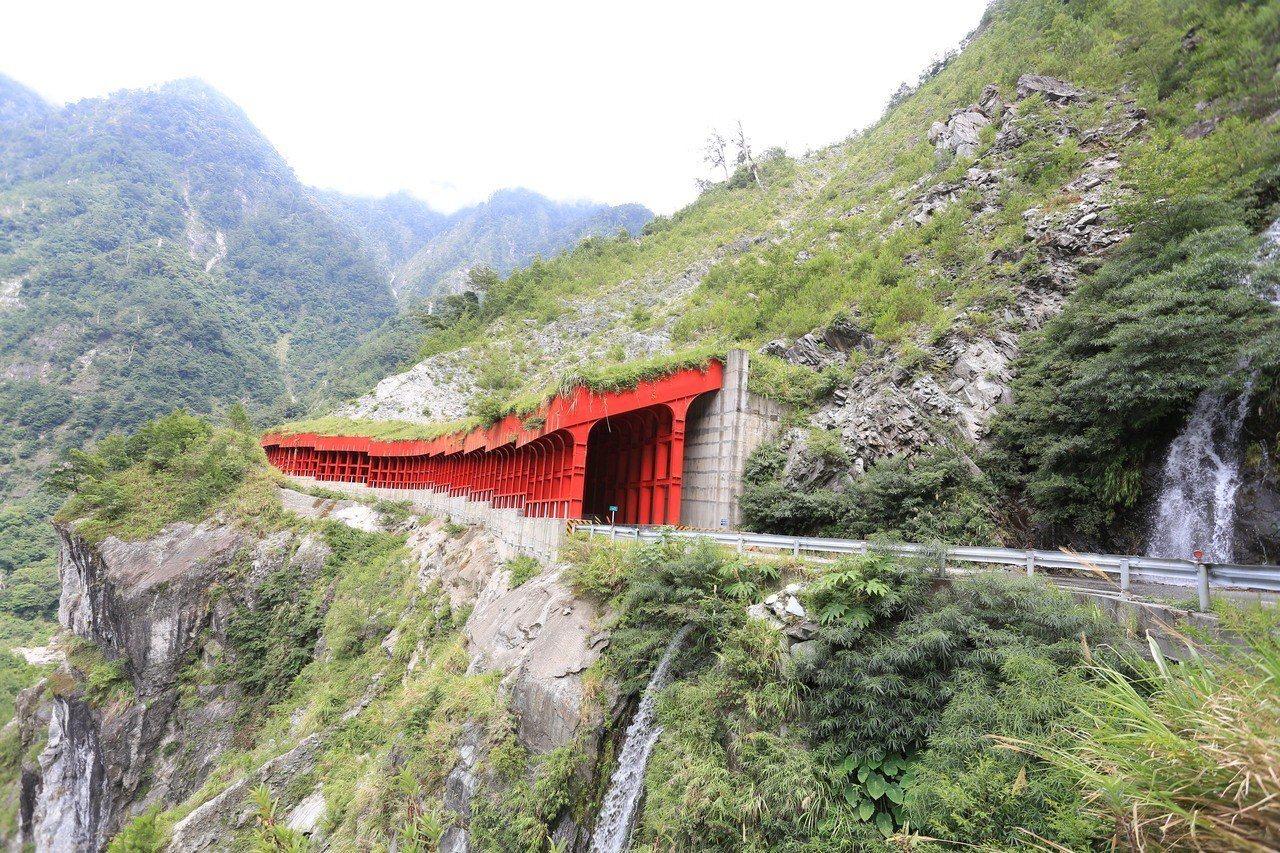 中橫便道加強安全工程,有隧道防止邊坡崩塌影響用路安全。圖/台中市新聞局提供