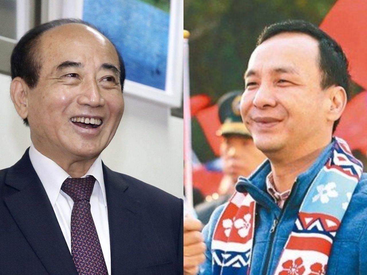 立法院前院長王金平與新北市前市長朱立倫。報系資料照合成