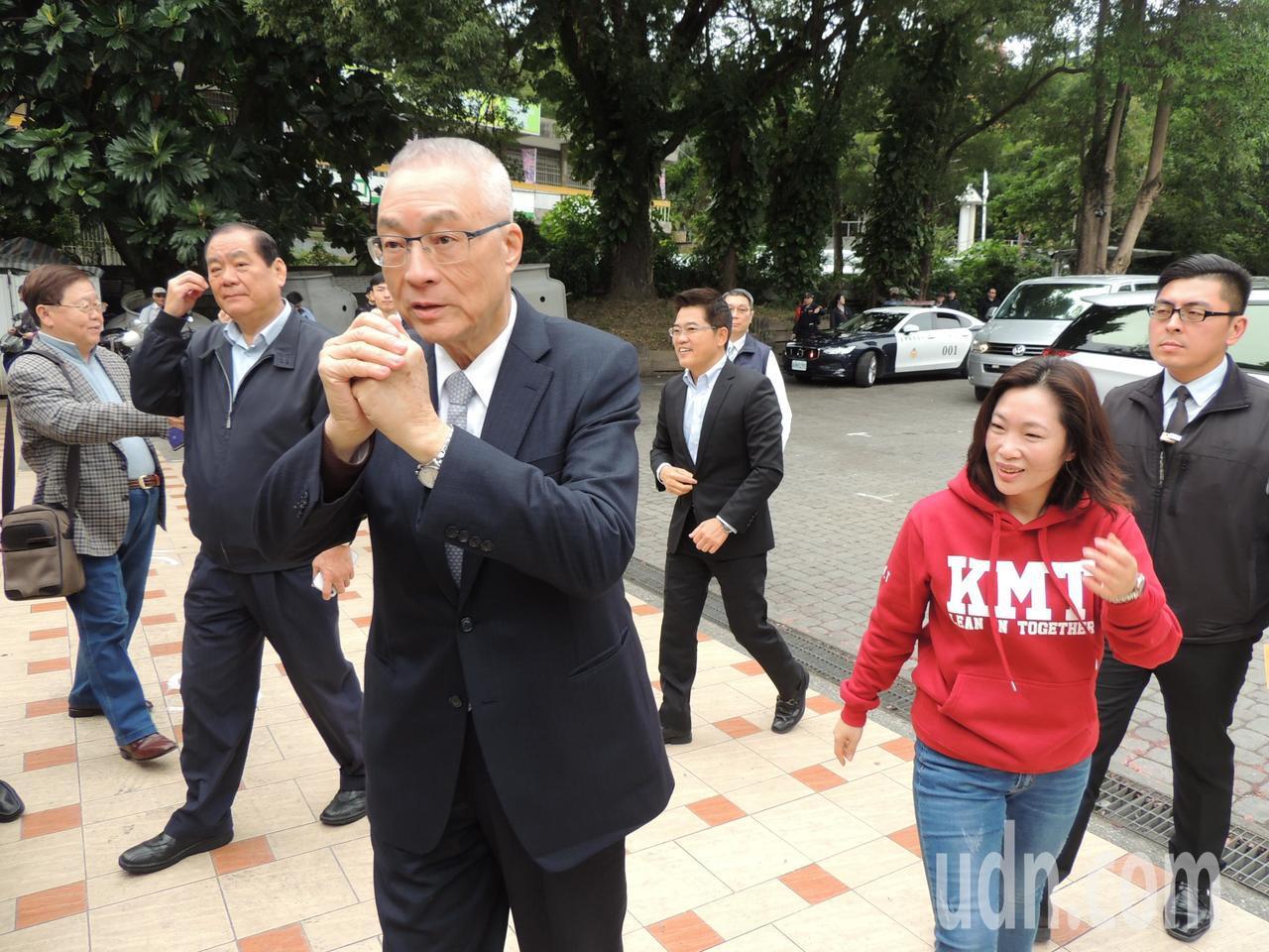 選不選2020總統?吳敦義今天表示「我還沒決定」。記者羅紹平/攝影
