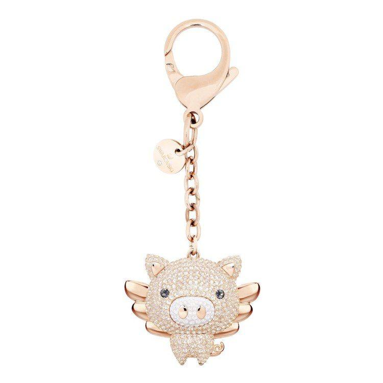 施華洛世奇LITTLE PIG手袋墜飾、3,990元。圖/施華洛世奇提供