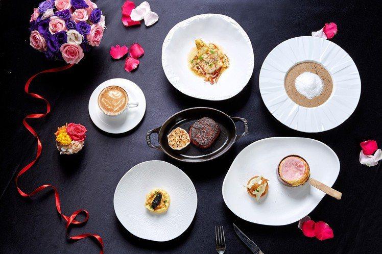 台北國賓飯店推出西洋情人節限定套餐,端出多種頂級食材如魚子醬、黑松露做成的料理。...