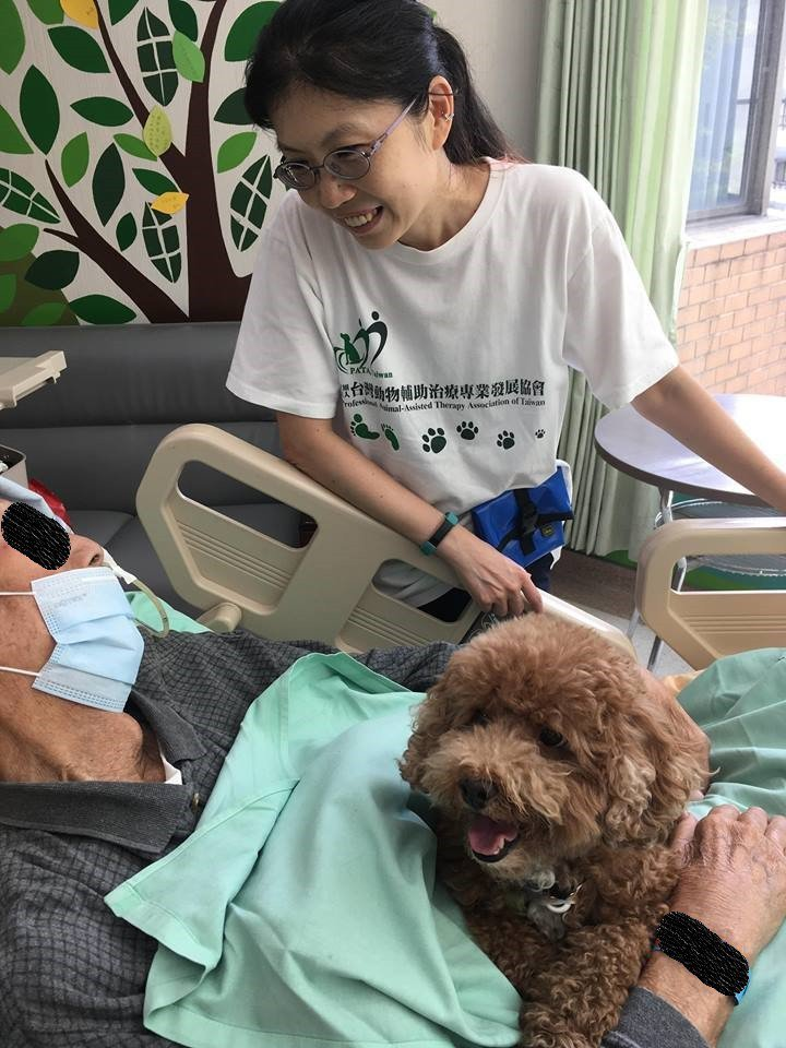 台灣動物輔助治療專業協會前理事、馬偕護專護理科助理教授楊嘉玲表示,動物輔助治療是...