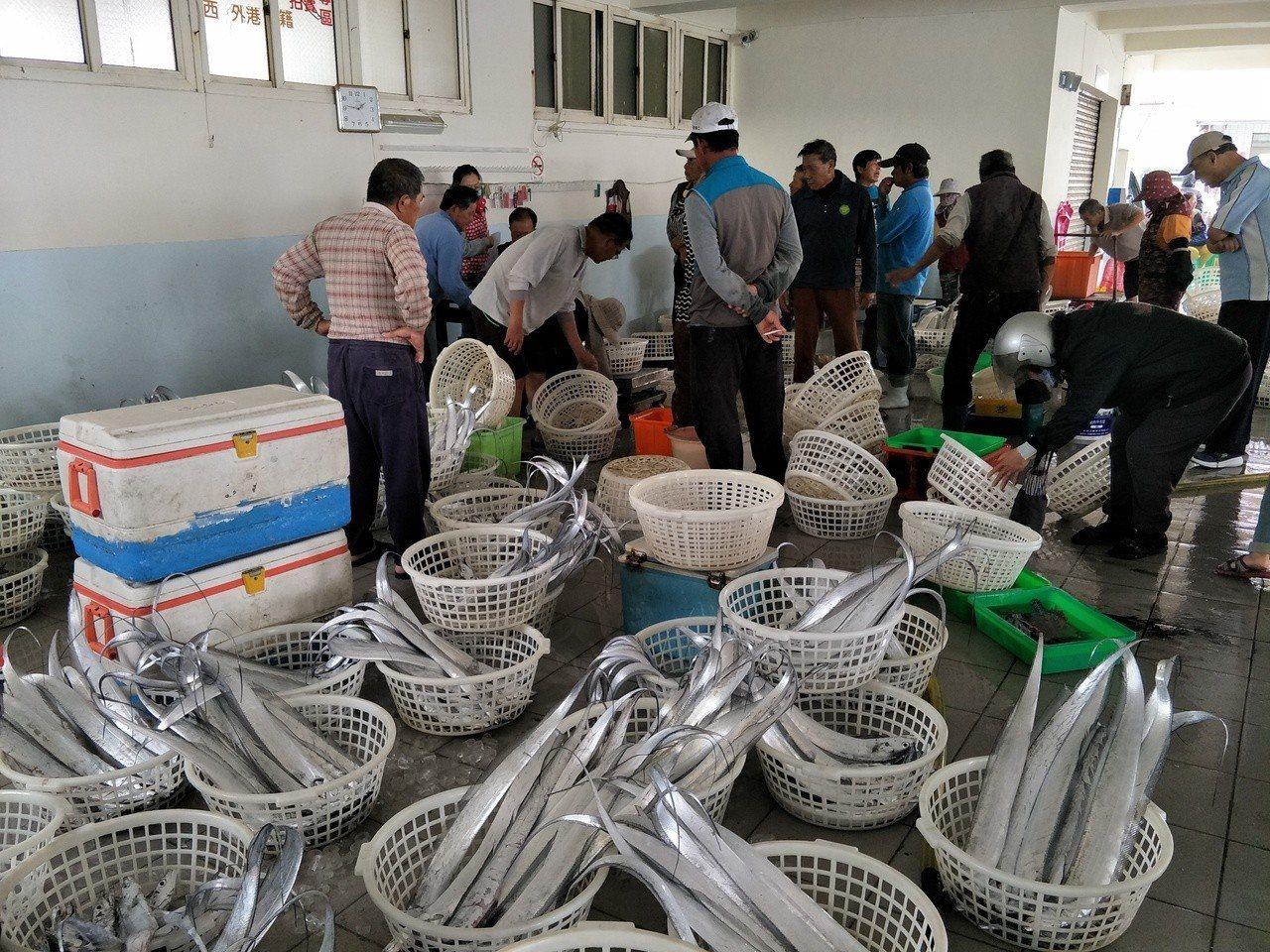 青山漁港拍賣遊客也可參與增加趣味。記者謝進盛╱攝影