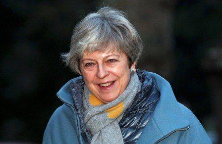 英國首相梅伊。 (路透)