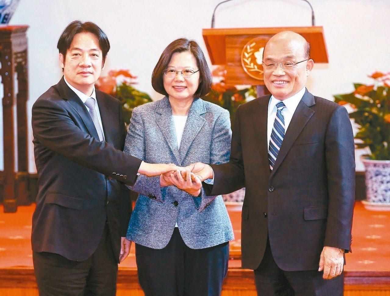 台灣民意基金會公布最新民調,蔡英文總統聲望提升到34.5%,為半年來最高。圖為卸...