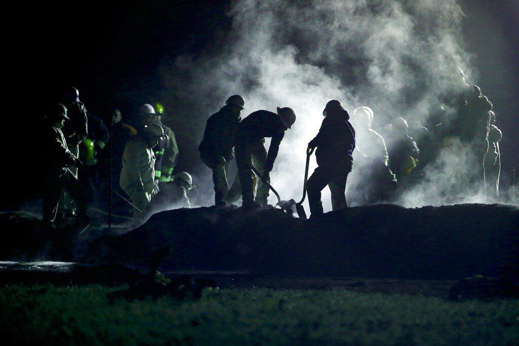 墨西哥發生油管爆炸事件奪走85條人命。美聯社
