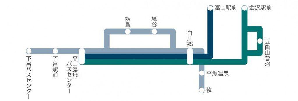 高山濃飛巴士金澤/富山線。 圖/www.nouhibus.co.jp/ch_h/