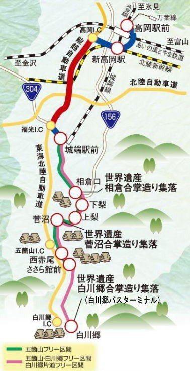 加越能世界遺產巴士。 圖/www.kaetsunou.co.jp/