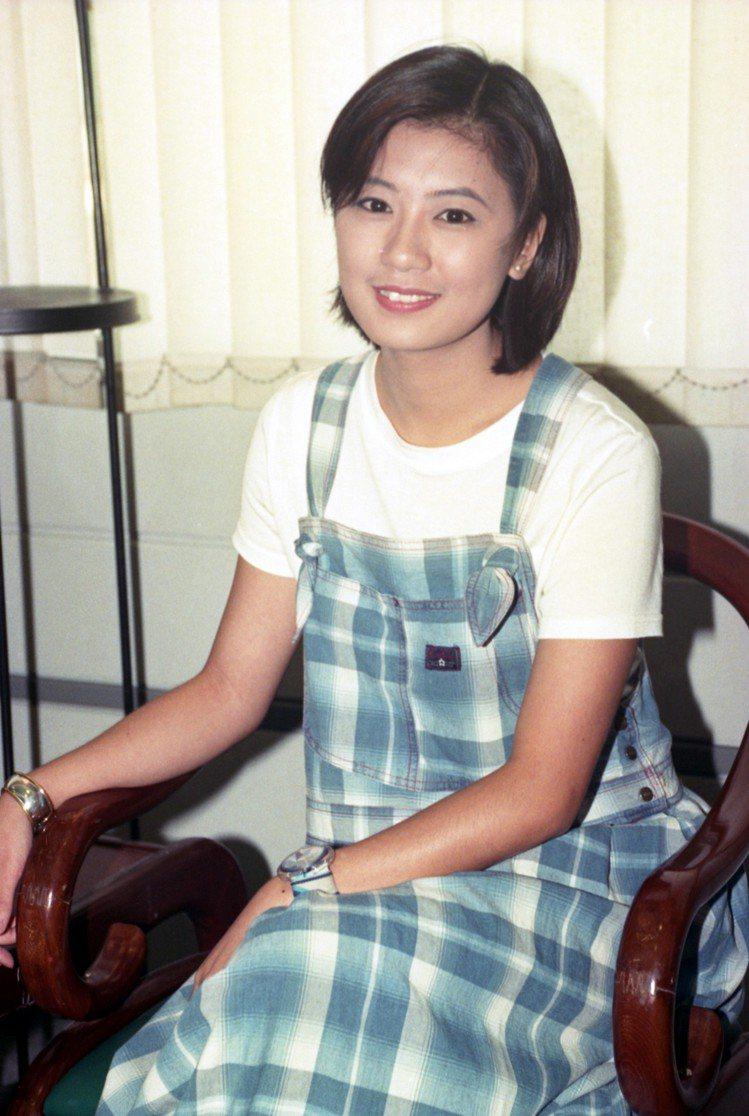 賈靜雯1995年時的模樣。圖/本報資料照