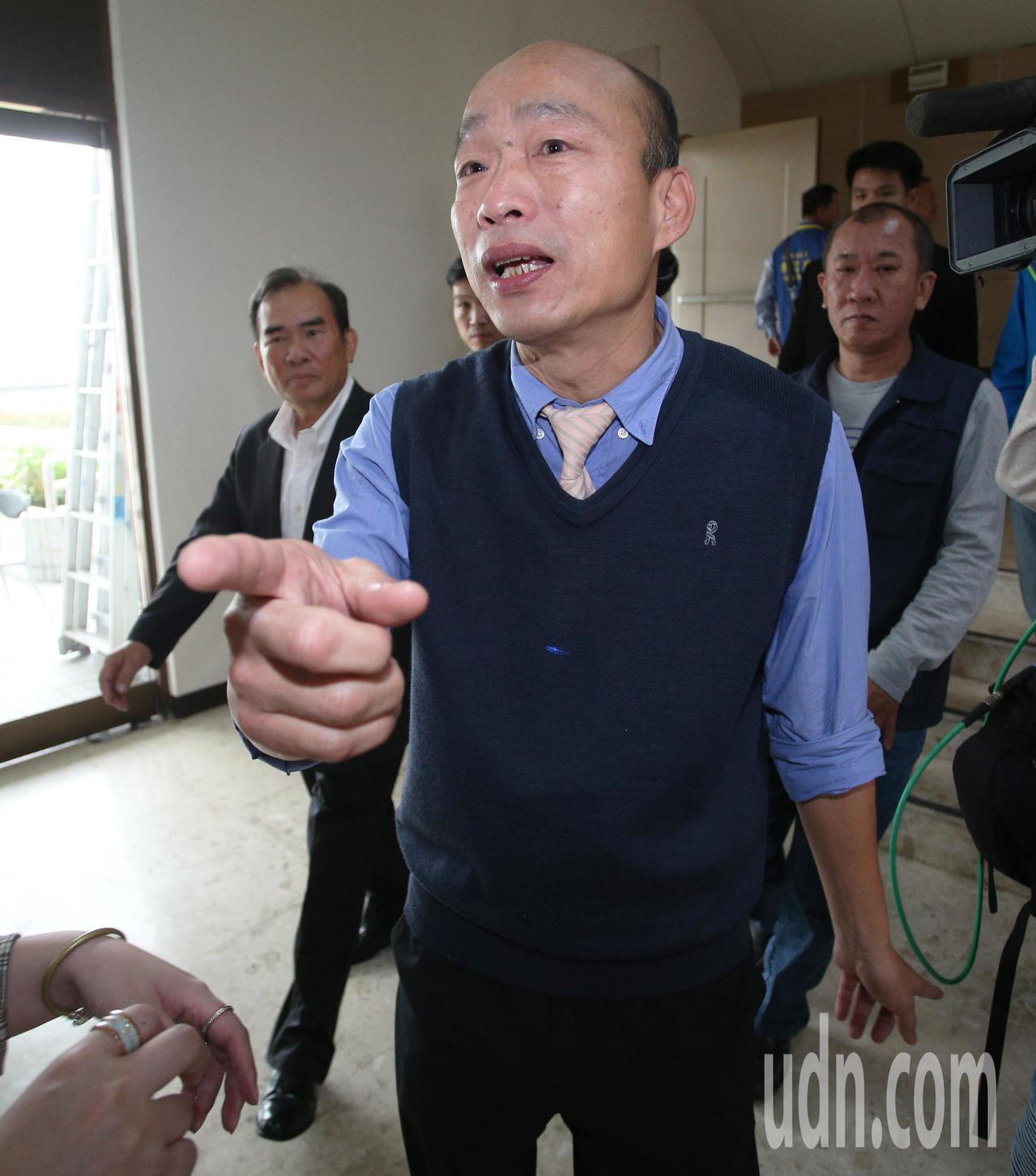 高雄市長韓國瑜。聯合報系資料照/記者劉學聖攝影