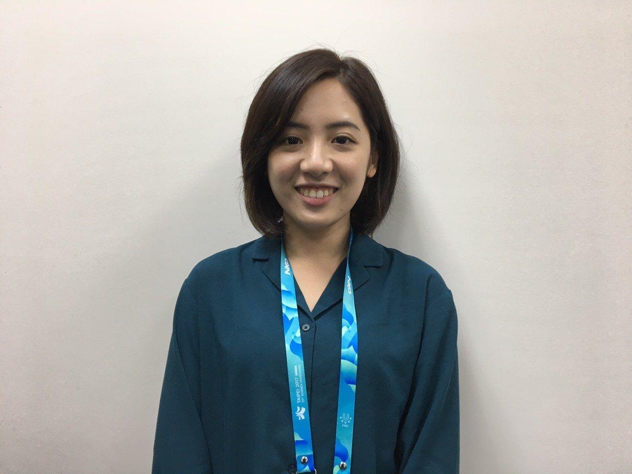 「學姊」黃瀞瑩在縣市長選舉後成為台北市政府副發言人。記者周佑政/攝影