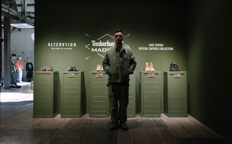Timberland與Madness聯名活動會場特別以空軍的「空投」(Airdr...