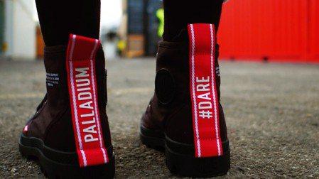 Palladium在本季首推Pampa Hi Dare系列,融入撞色設計。圖/P...
