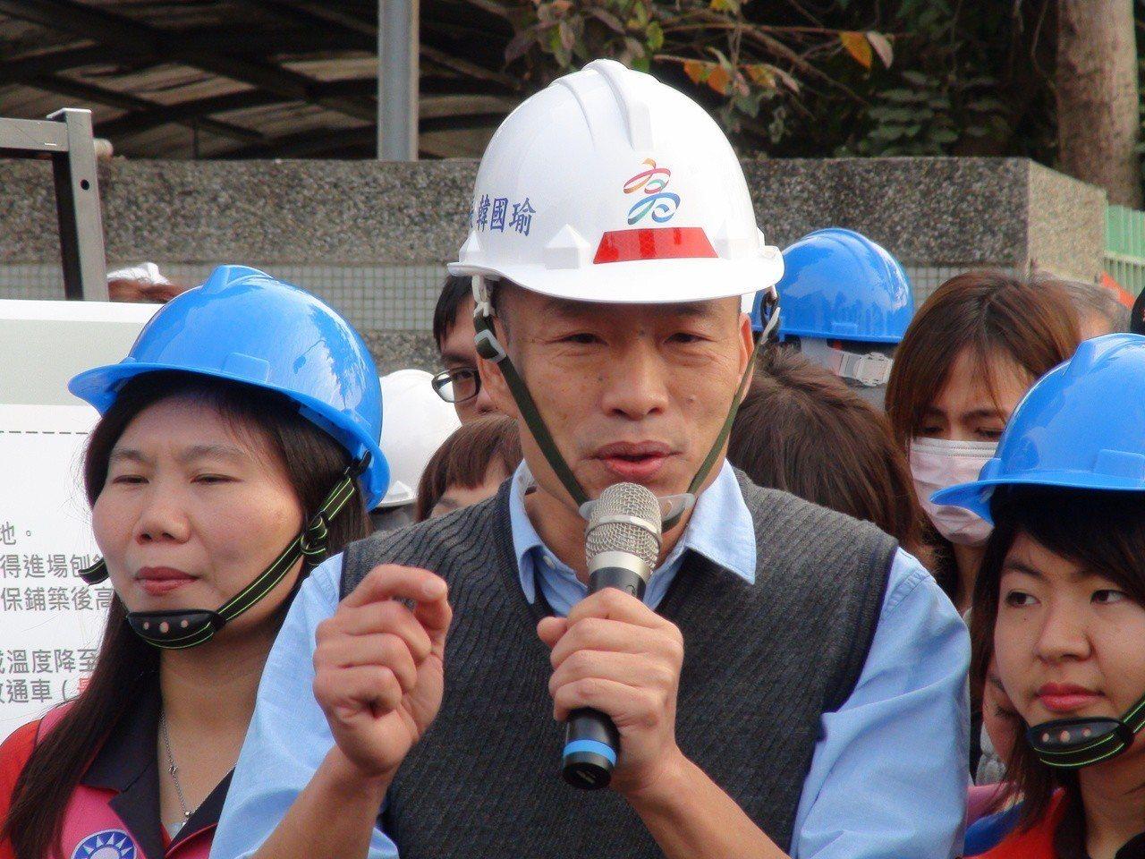 高雄市長韓國瑜說,可能會跟柯文哲約去日本旅遊玩,不會搭檔選總統。記者謝梅芬/攝影