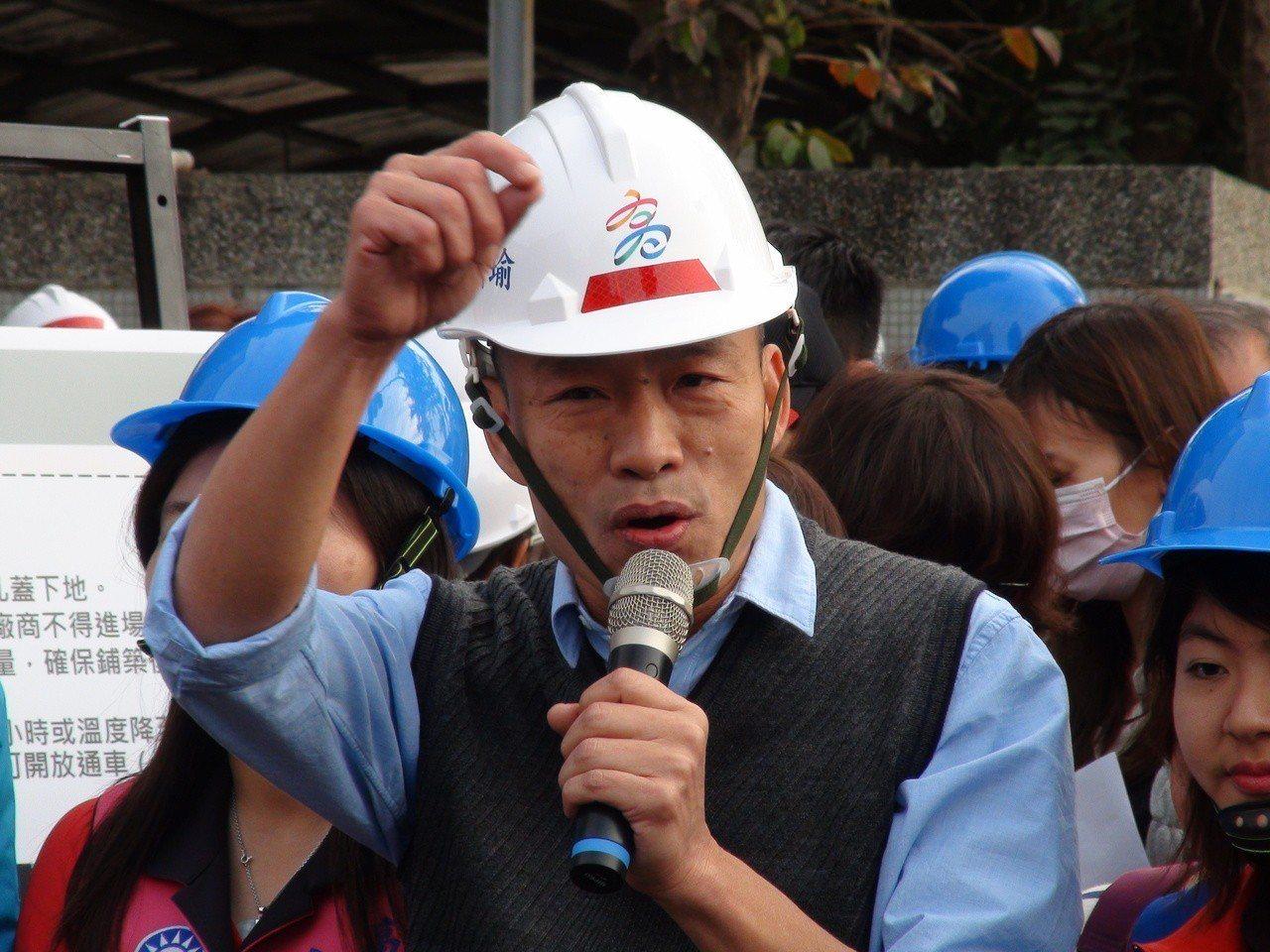 高雄市長韓國瑜說,林濁水講話比較酸一點。記者謝梅芬/攝影