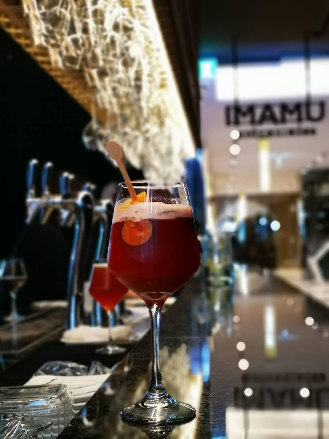 紅色古巴冰棒果茶,售價180元。記者韓化宇/攝影
