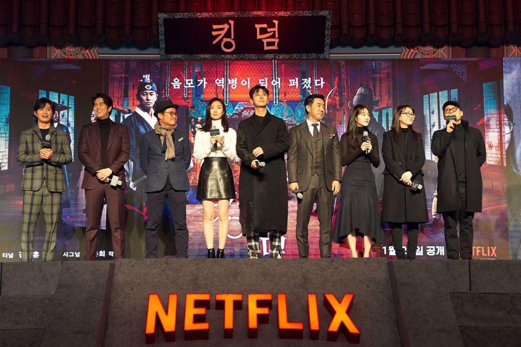 「李屍朝鮮」首映比照電影規格。圖/Netflix提供