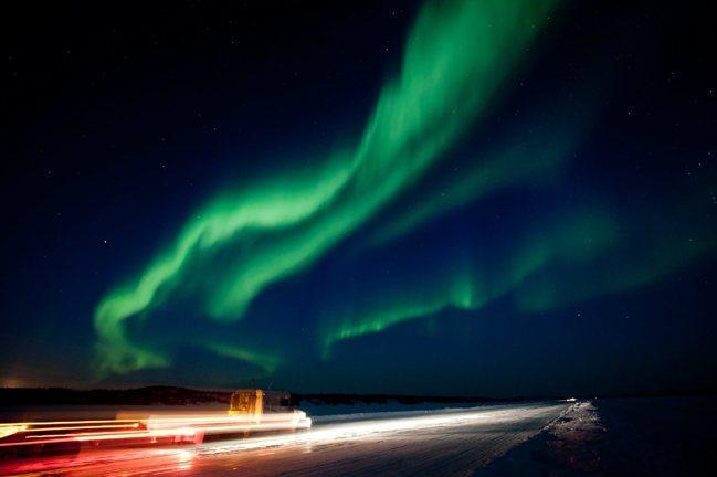 加拿大黃刀鎮只要在沒有光害的地方,一年高達250天可以看到極光。 美聯社