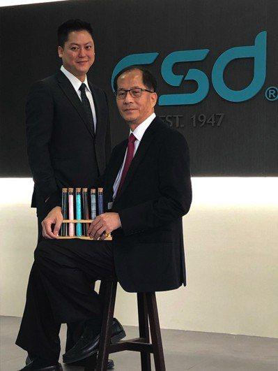 成立72年的中衛,是台灣專業醫材大廠,圖為總經理張豐聯(右)、總經理特助張德成(...