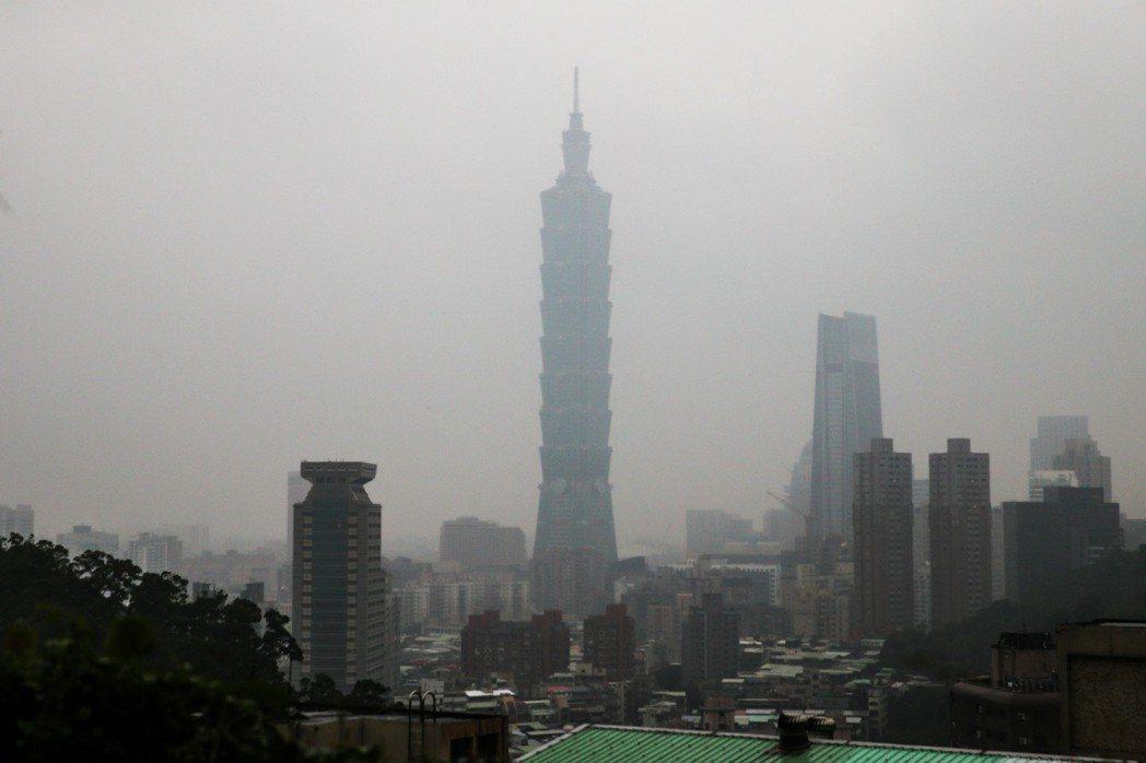 台灣對於霧霾的認知僅在這幾年才逐漸建立。記者鄭清元/攝影