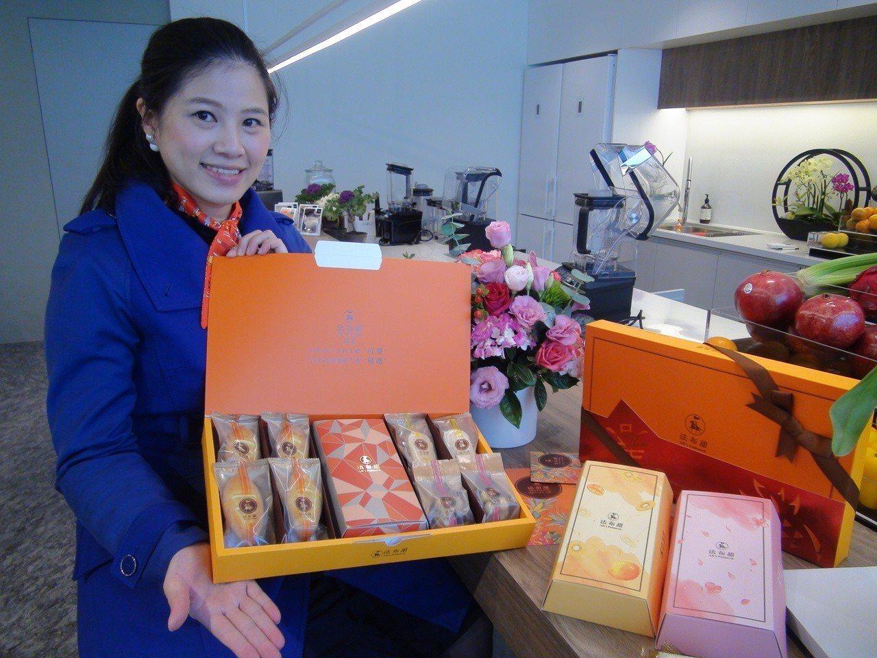 法布甜針對農曆春節推出「富貴禮盒」。記者余采瀅/攝影