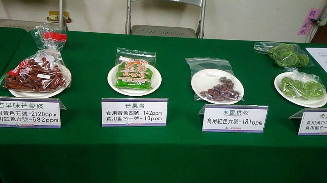 台灣消費者保護協會今年一月初抽驗台南安平老街、高雄三鳳中街、屏東夜市等共25件果...