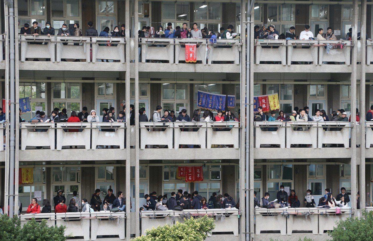 大學學測本月25、26日舉行。聯合報系資料照