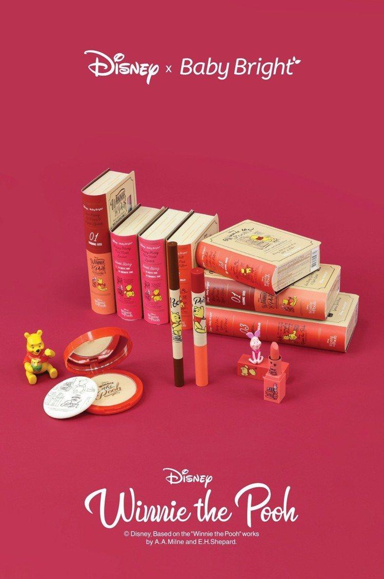泰國彩妝品牌Baby Bright與迪士尼合作推出的小熊維尼聯名系列彩妝,即日起...
