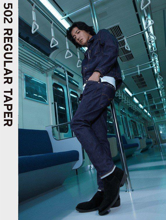 木村拓哉演繹LEJ 502TM經典錐形牛仔褲。圖/LEVIS提供