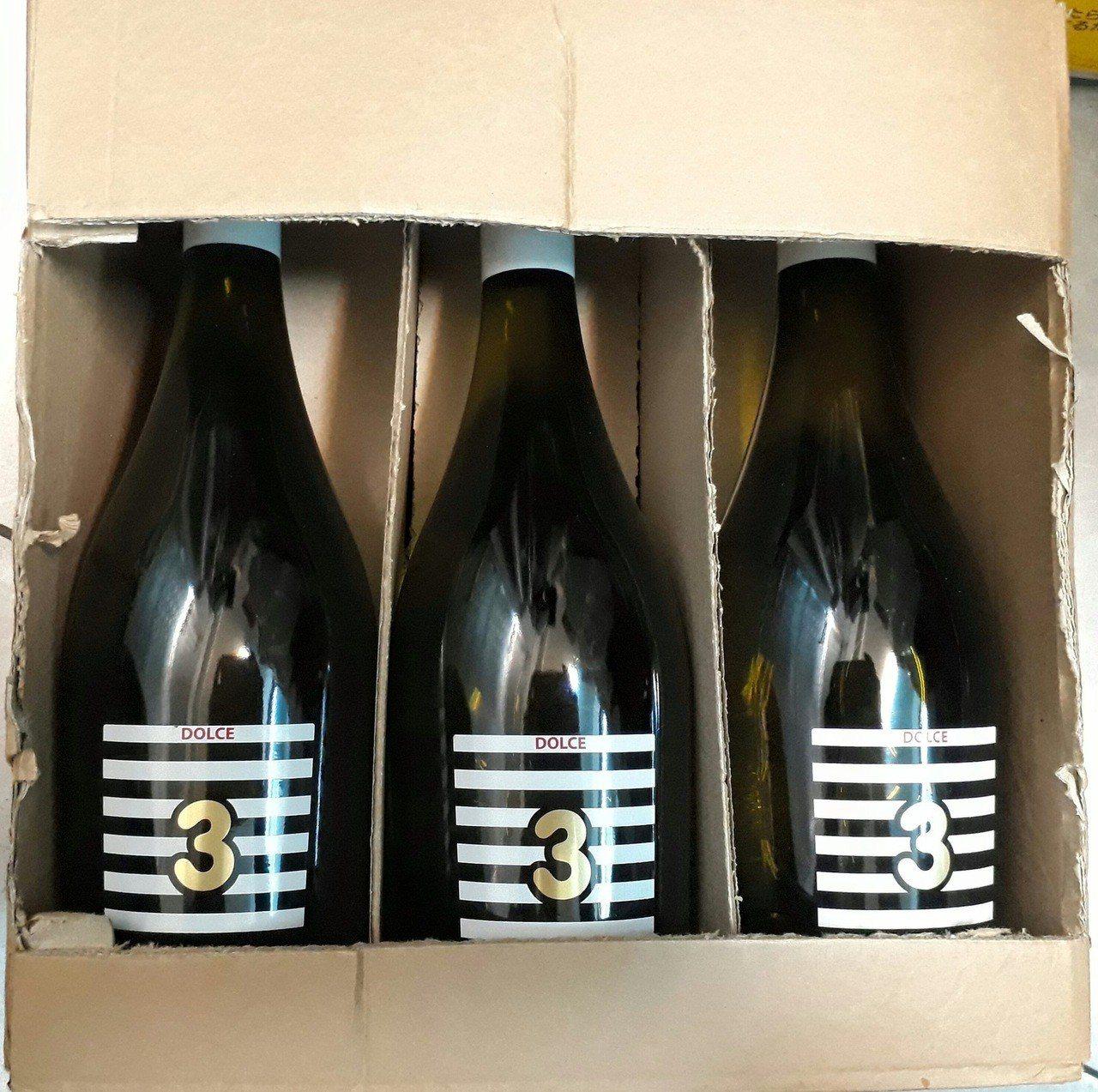 義大利Dolce 3慕思卡甜白酒,售價1,399元(6瓶)。圖/擷取自Costc...