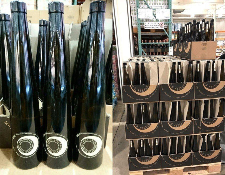 義大利慕斯卡多微甜白酒,近期特價689元。圖/擷取自Costco好市多商品經驗老...