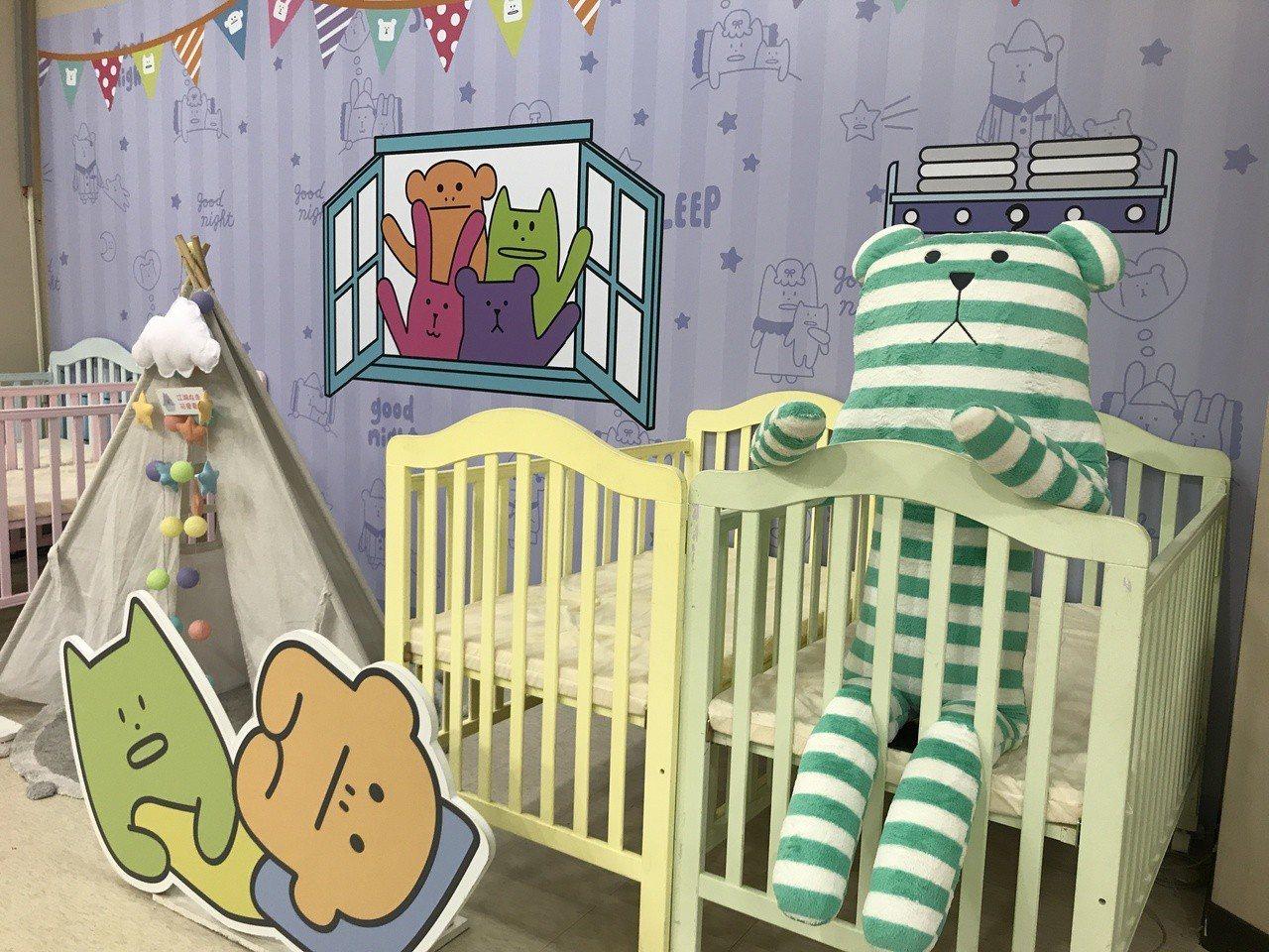 《宇宙人ㄕㄓㄋ特展》萌萌育嬰室。記者江佩君/攝影