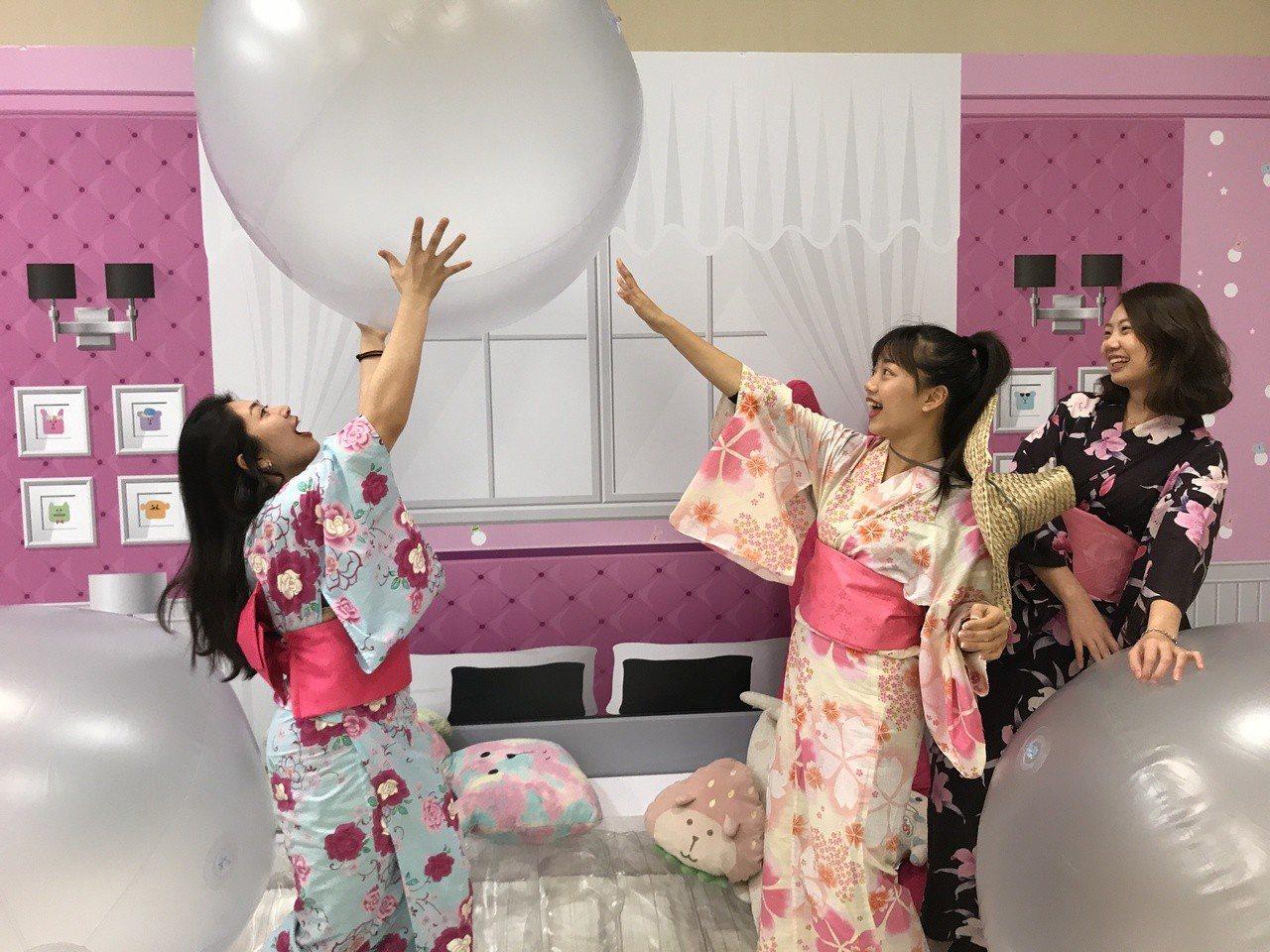 《宇宙人ㄕㄓㄋ特展》夢幻睡衣派對。記者江佩君/攝影