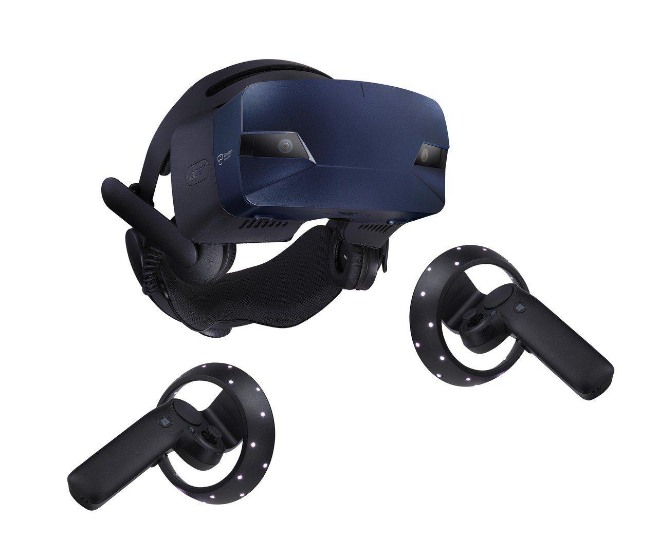 Acer OJO 500可選配一對動作控制器,搭配頭戴式顯示器與虛擬物件互動。圖...