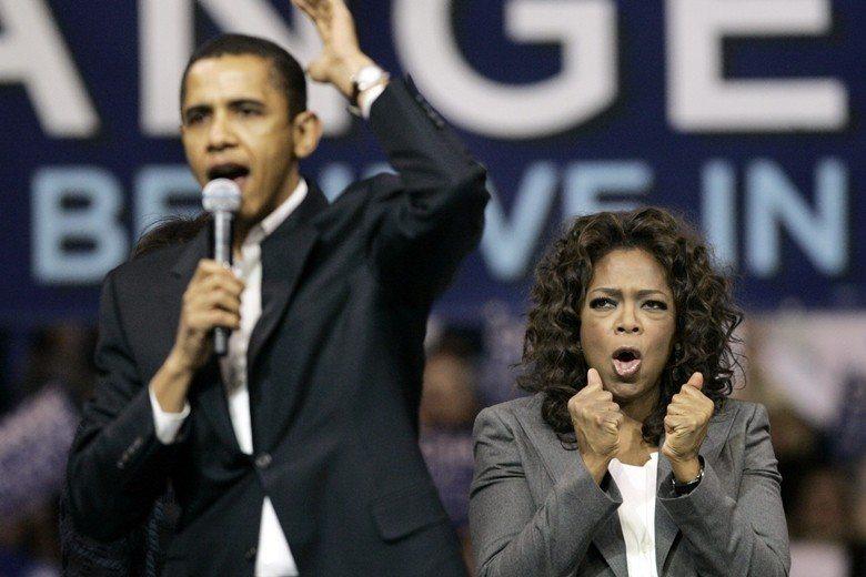 名嘴歐普拉是歐巴馬競選期間的超級助選員。 圖/美聯社