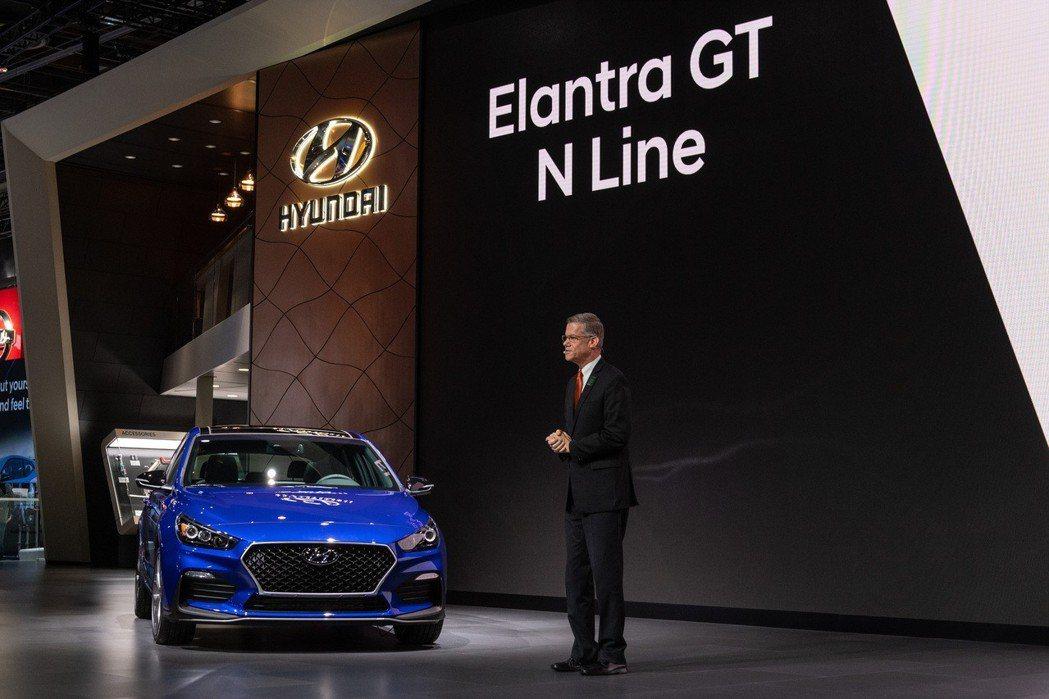 全新Hyundai Elantra GT N Line正式在2019北美車展上發...