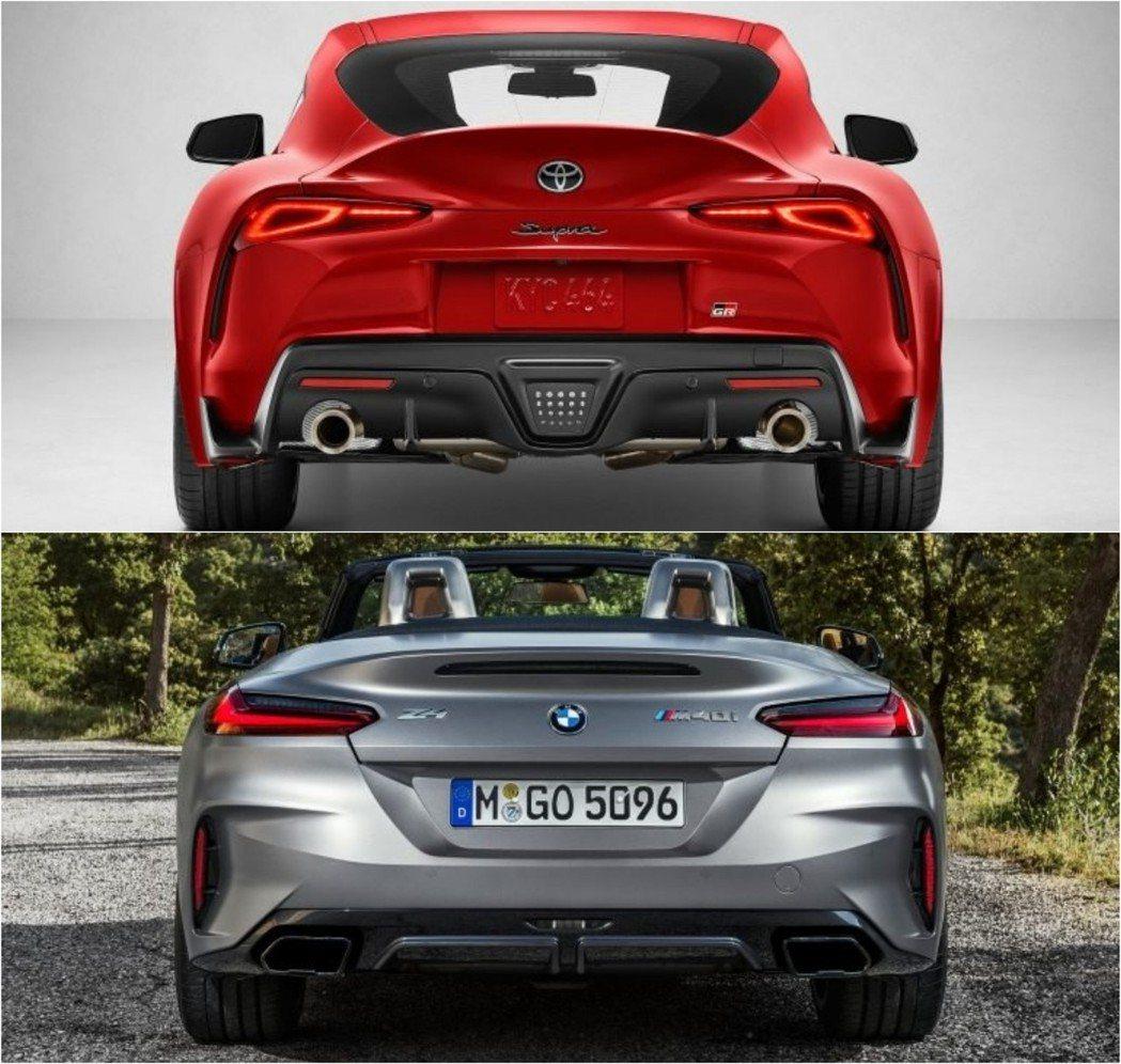 車尾更是凸顯了敞篷與一般雙門車型的差異。 摘自Toyota、BMW