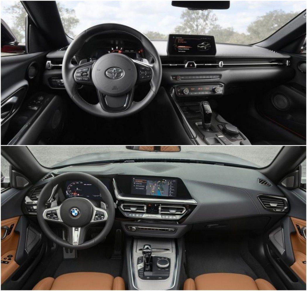 Supra的內裝完完全全採用BMW上一代的設計格局,Z4則是最新世代BMW鋪陳。...
