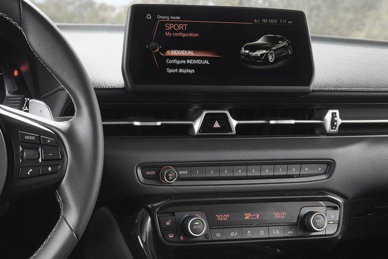 這是Supra的中控設計。 摘自Toyota