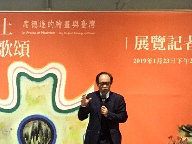 國立台灣美術館館長林志明致詞(photo by 康詠琪/台灣醒報)