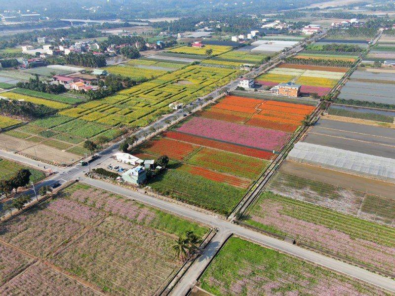 (圖/FB@一日遊景點-周傑倫) ▲空拍全國最大葵花迷宮,這景象真的很壯觀。