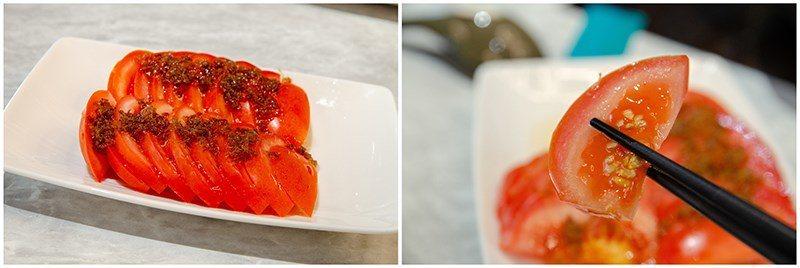 (圖/台灣旅行趣) ▲涼拌小菜的表現也很亮眼,【桂花蜜番茄】手工自製的桂花蜜,讓...