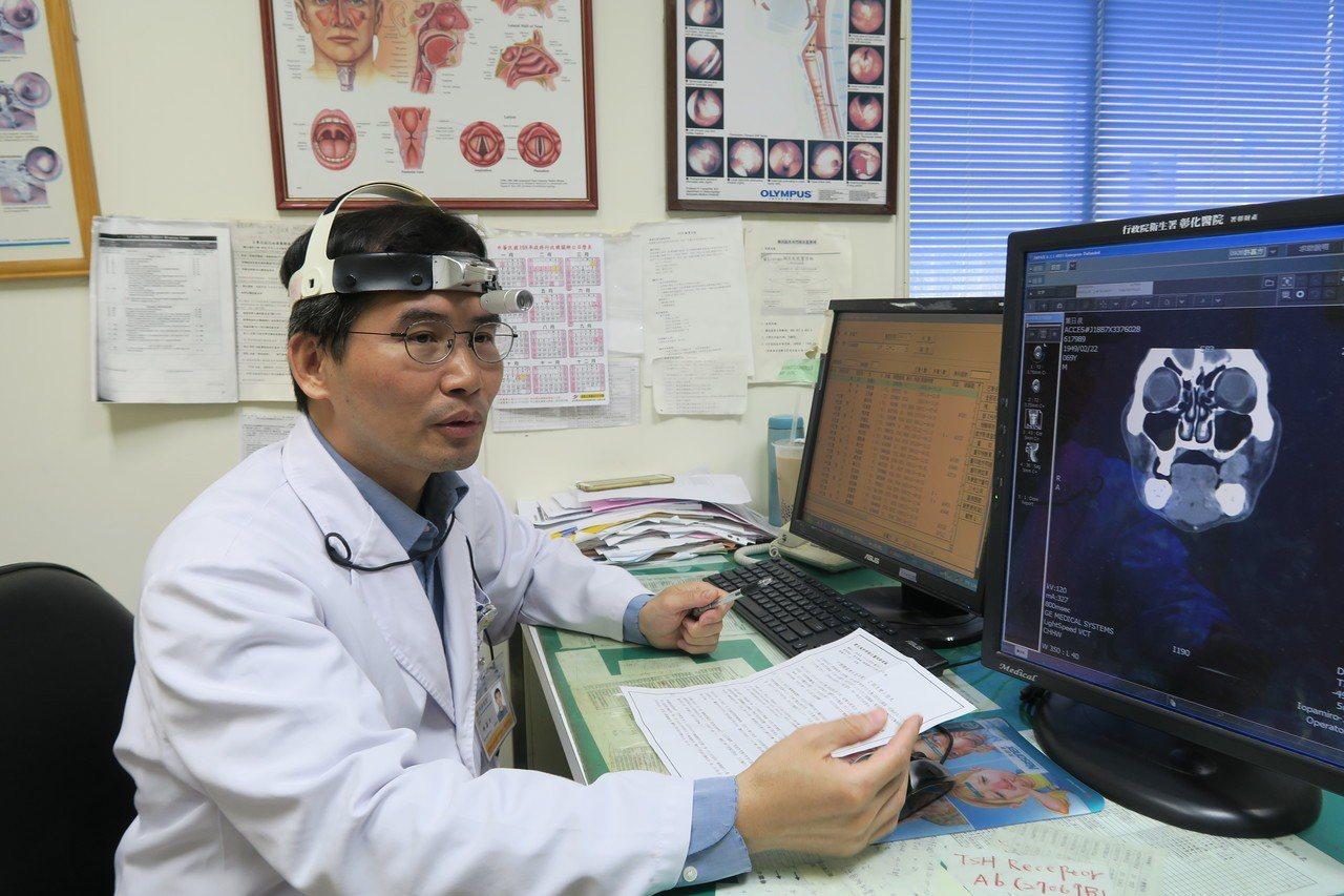 衛福部彰化醫院耳鼻喉科主任許嘉方表示,口腔癌長得很快,千萬不要拖延。記者林敬家/...