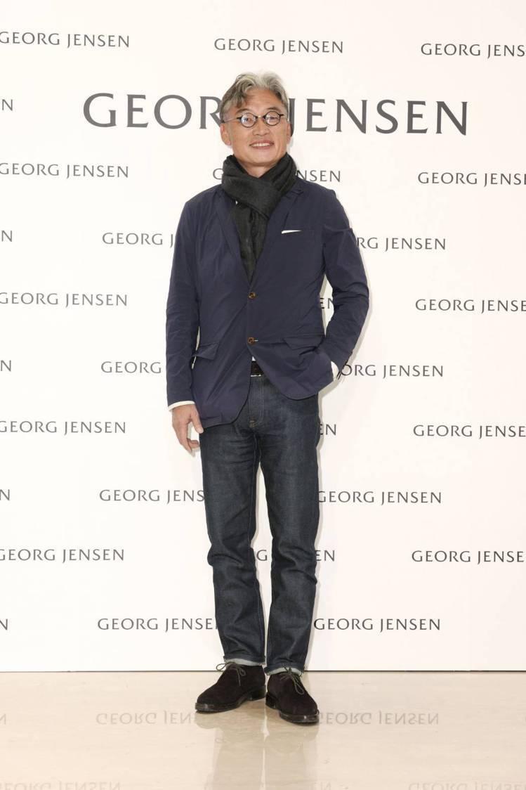 Georg Jensen品牌總裁朱欽騏也特地飛抵台灣為新店剪綵。圖/記者陳立凱攝...