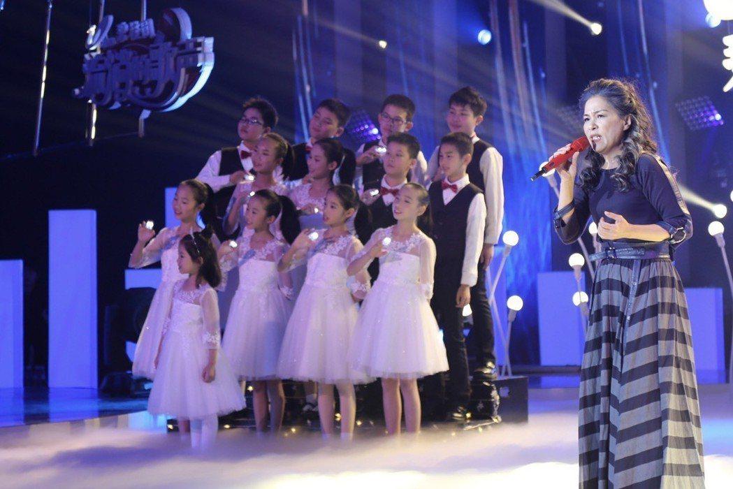 曾淑勤受邀到節目唱「魯冰花」。圖/尚時代文創娛樂工作室提供